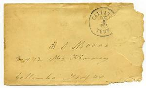 [Envelope addressed to H. S. Moore, October 3, 1885]