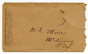 [Envelope addressed to H. S. Moore]