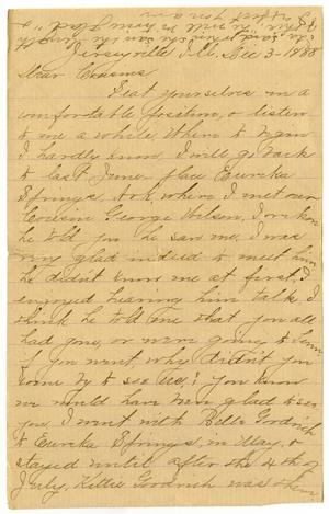 Primary view of object titled '[Letter from Julia A. Barr to the Moore family, December 3, 1888]'.