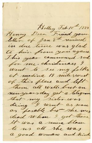Primary view of object titled '[Letter from John McCormick to H. S. Moore, February 10, 1889]'.