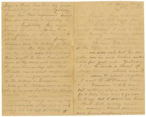 Primary view of object titled '[Letter from H. S. Moore to Charles, Mary, and Linnet Moore , August 9, 1889]'.