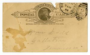 Primary view of object titled '[Letter from Charles B. Moore to William Dodd, September 10,1889]'.