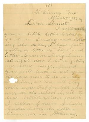 Primary view of object titled '[Letter from Laura Wallace to Linnet, March 28, 1890]'.