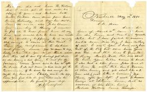 Primary view of object titled '[Letter from J. J. Crawford to Charles B. Moore, May 12, 1890]'.
