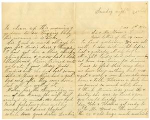 Primary view of object titled '[Letter from Dinkie McGee to Mary and Charles B. Moore, June 1, 1890]'.