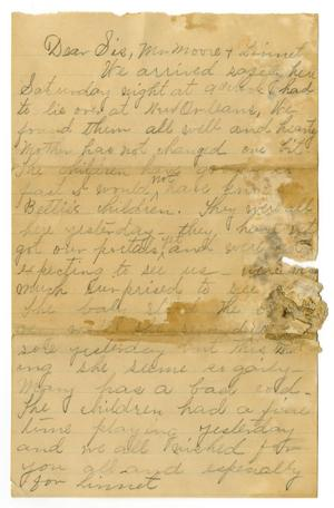 Primary view of object titled '[Letter from Florence Dodd to Sis, Mr. Moore, and Linnet, undated]'.