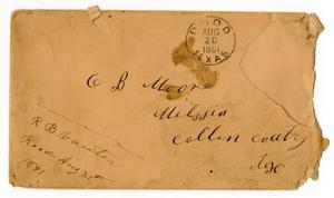 [Envelope addressed to C. B. Moore]