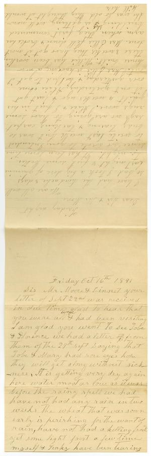 Primary view of object titled '[Letter from Matilda Dodd to Mary and Charles B. Moore, October 16, 1891]'.