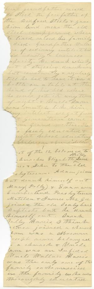 Primary view of object titled '[Correspondence, undated]'.