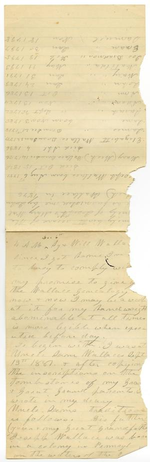 Primary view of object titled '[Letter from Charles B. Wallace to Sy and Will Wallace, December 6]'.