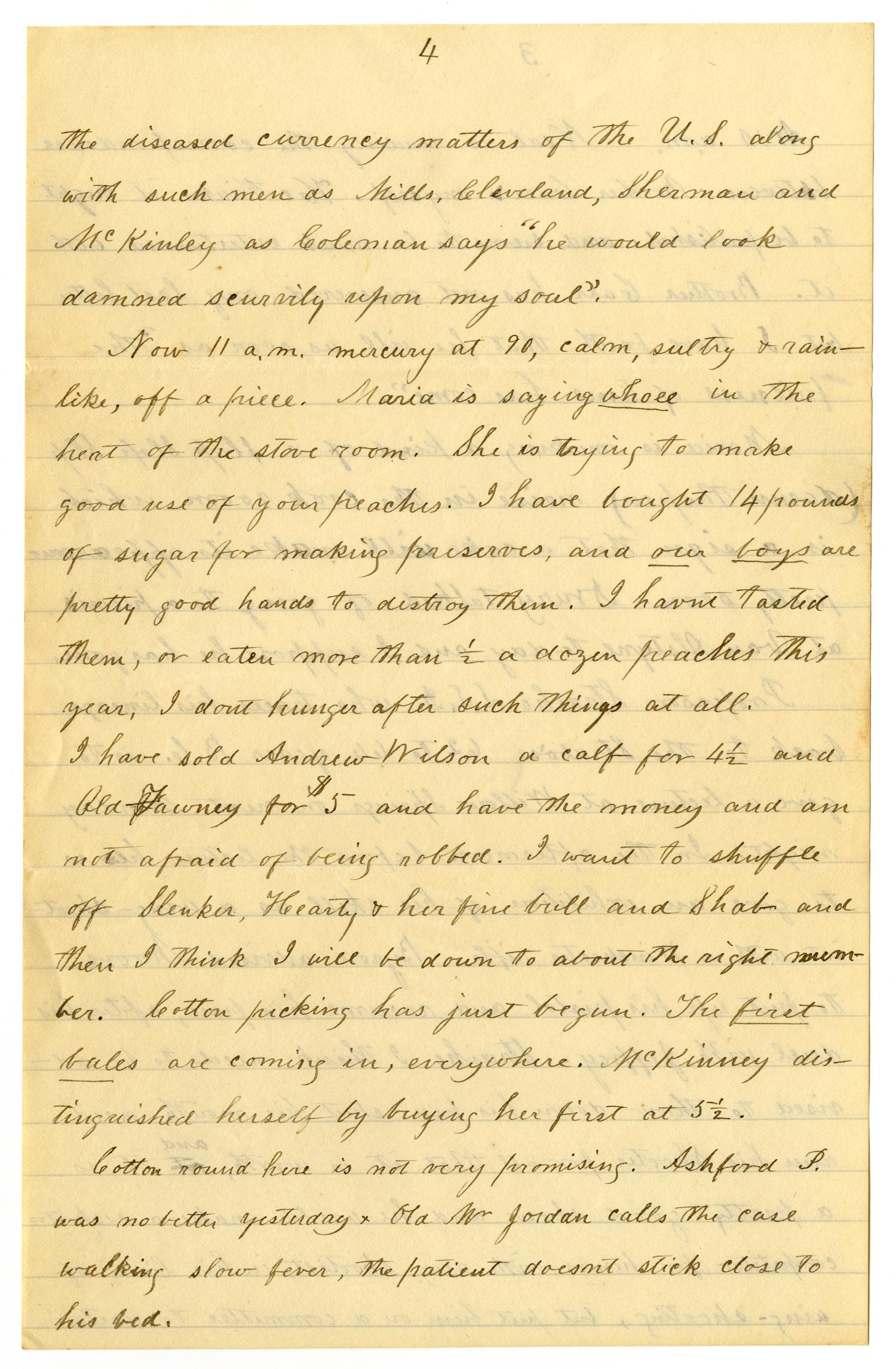 [Letter from Henry S. Moore to Charles, Mary and Linnet Moore, August 19, 1893]                                                                                                      [Sequence #]: 4 of 18