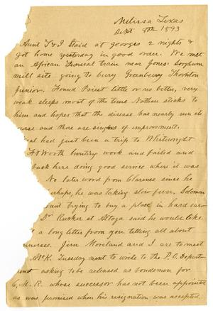 Primary view of object titled '[Letter from H. S. Moore, September 8, 1893]'.