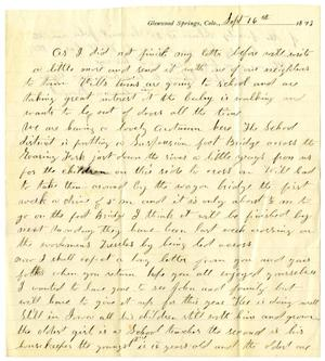 Primary view of object titled '[Letter from Anna Boyd and H. S. Moore to C. B. Moore, September 16, 1893]'.