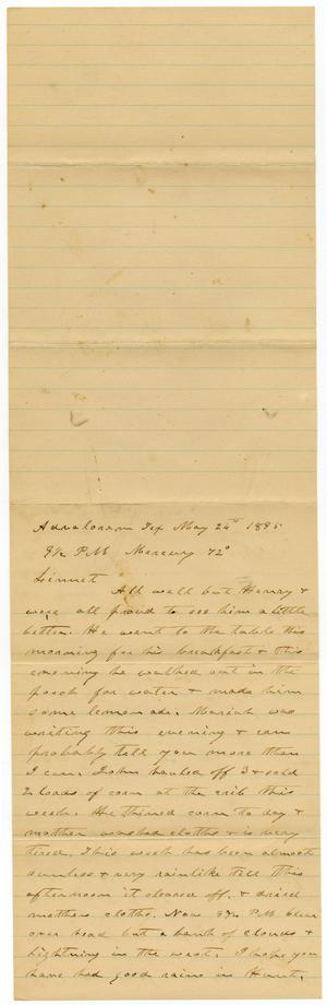 Primary view of object titled '[Letter from C. B. Moore to Linnet, May 26, 1895]'.