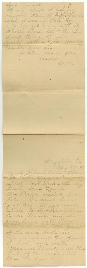 Primary view of object titled '[Letter to Charles and Mary Moore, May 27, 1895]'.