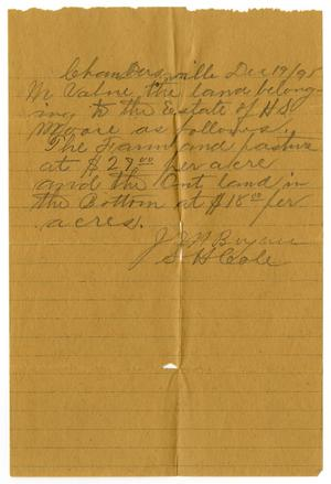 Primary view of object titled '[Letter from J. M. Bryan and S. H. Coale, December 19, 1895]'.