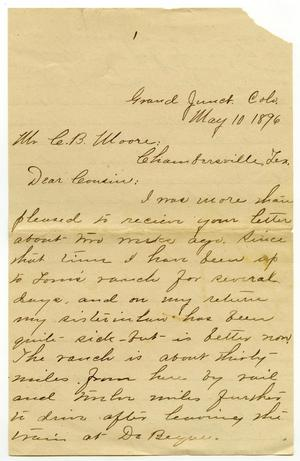 Primary view of object titled '[Letter from Camilla Wallace to Charles B. Moore, May 10, 1896]'.