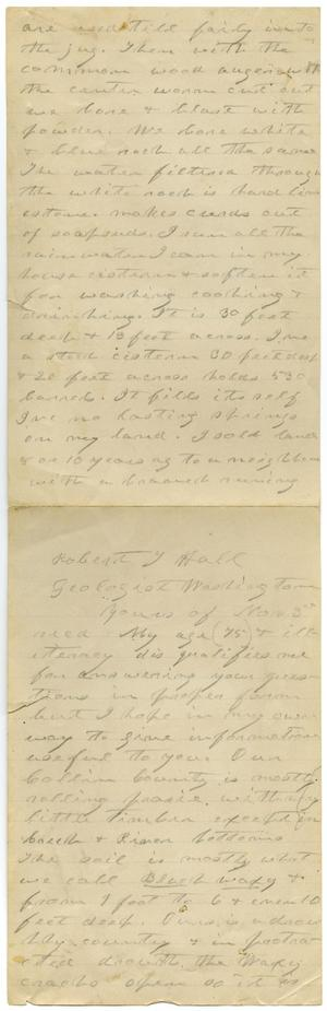 Primary view of object titled '[Letter from Charles B. Moore to Robert Hall, November 3]'.