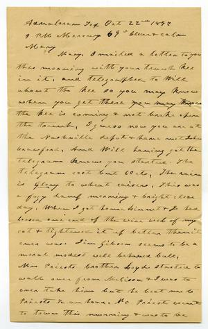 Primary view of object titled '[Letter from Charles B. Moore to Mary Ann Moore, October 22, 1897]'.