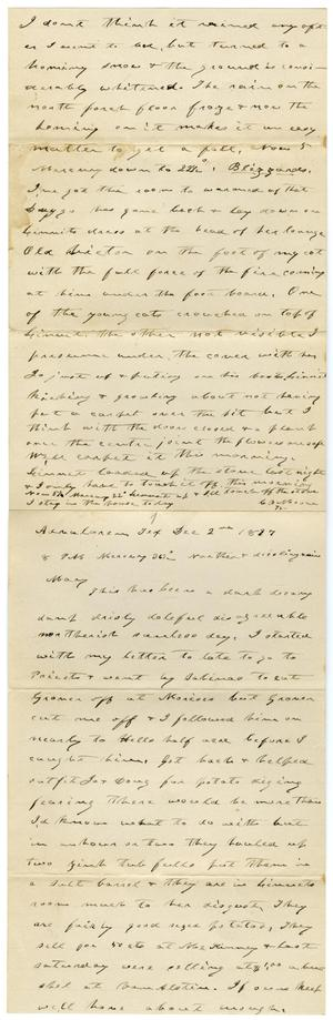 Primary view of object titled '[Letter from Charles B. Moore to Mary Moore, December 2, 1897]'.