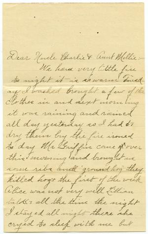 Primary view of object titled '[Letter from Birdie McGee to Mary and Charles B. Moore]'.