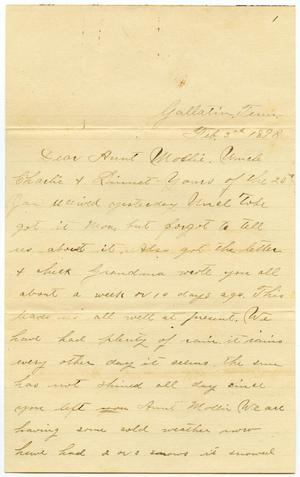 Primary view of object titled '[Letter from Will McGee to Charles, Mary and Linnet Moore, February 3, 1898]'.