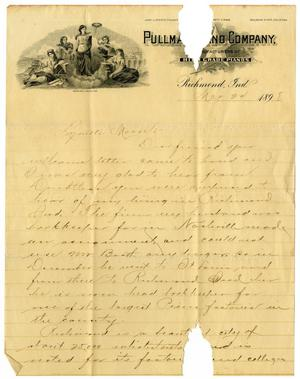 Primary view of object titled '[Letter from May Booth to Linnet Moore, March 24, 1898]'.