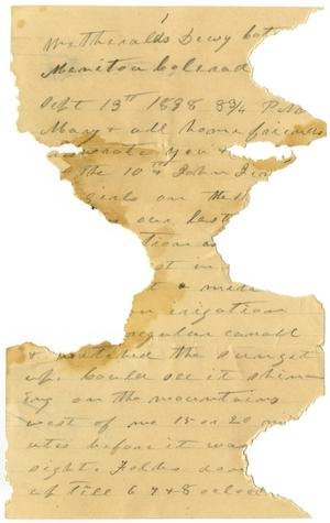 Primary view of object titled '[Letter to Mary Moore and Friends,September 13, 1898]'.