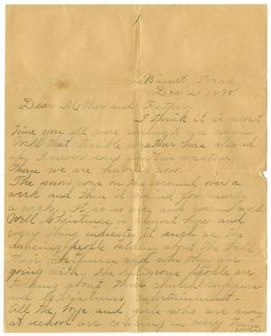 Primary view of object titled '[Letter from Linnet, Moore to Mary and Charles Moore, December 21, 1898]'.