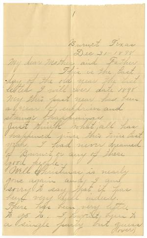 [Letter from Linnet, Moore to Mary and Charles Moore, December 31, 1898]