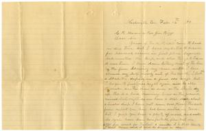 Primary view of object titled '[Letter from J. J. Crawford to Charles B. Moore and Rev. Jim Biggs, February 16, 1899]'.