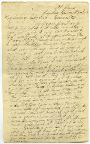 Primary view of object titled '[Letter from Lula Dalton to Linnet Moore, March 12-20, 1899]'.