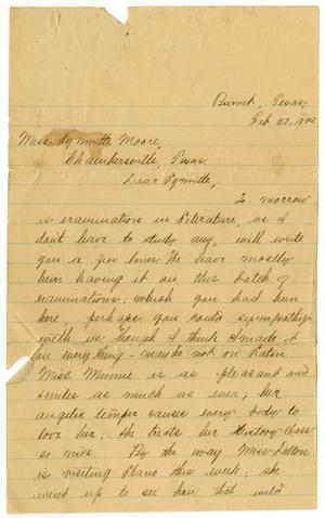 Primary view of object titled '[Letter from F. H. Dougherty to Linnet Moore, February 28, 1899]'.