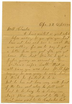 Primary view of object titled '[Letter from Anna Boyd to Charles B. Moore, April 27, 1899]'.