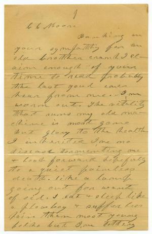 Primary view of object titled '[Letter from C. B. Moore]'.