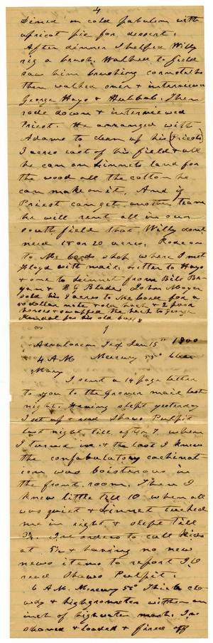 Primary view of object titled '[Letter from Charles B. Moore to Mary Ann Moore, January 15, 1900]'.