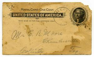 [Letter from W. H. McGee to Charles B. Moore, January 15, 1900]