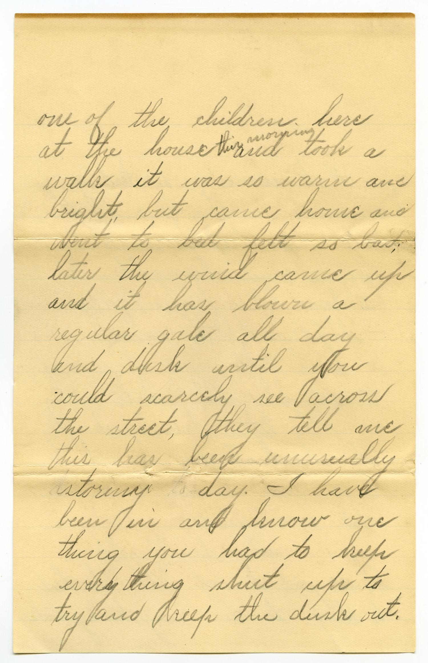 [Letter from Lula Dalton to Linnet Moore, February 19, 1900]                                                                                                      [Sequence #]: 4 of 10