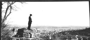 Primary view of object titled '[A Lady Viewing Mineral Wells From East Mountain]'.