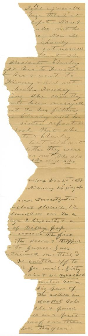 Primary view of object titled '[Letter from C. B. Moore, December 20, 1899]'.