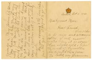 Primary view of object titled '[Letter from Carter J. Dalton to Linnet Moore, October 11, 1900]'.