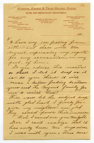 Primary view of object titled '[Letter from Claude D. White to Linnet Moore, December 28, 1900]'.