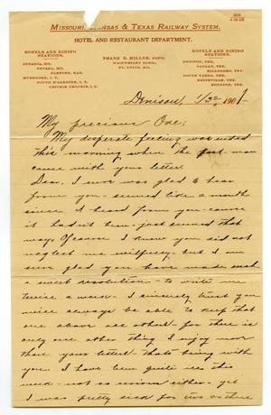Primary view of object titled '[Letter from Claude White to Linnet Moore, January 3, 1901]'.