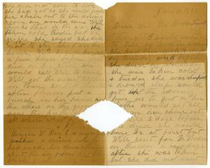 Primary view of object titled '[Letter from Elizabeth Franklin to the Moore family, January 10, 1901]'.