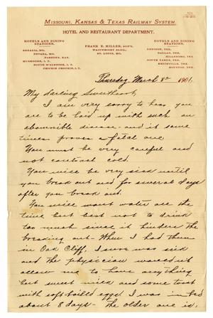 Primary view of object titled '[Letter from Claude White to Linnet Moore, March 8, 1901]'.