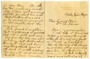 [Letter from Carter Dalton to Linnet Moore, May 30, 1901]