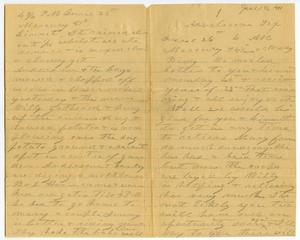Primary view of object titled '[Letter from Charles B. Moore to Bindie  McGee and Linnet Moore, June 26, 1901]'.