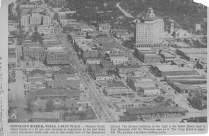 Primary view of object titled '[An Aerial View of Downtown Mineral Wells in 1954]'.