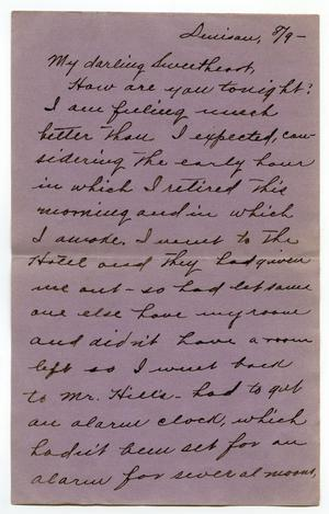 Primary view of object titled '[Letter from Claude D. White to Linnet Moore]'.