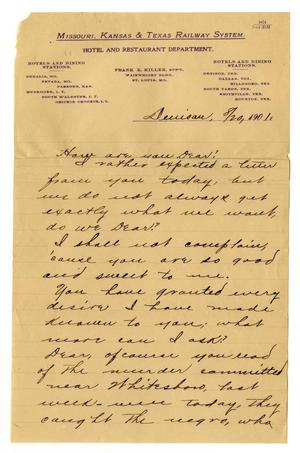 Primary view of object titled '[Letter from from Claude D. White to Linnet Moore, August 20, 1901]'.